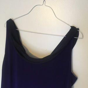 NWT Tahari Deep Purple Long Dress